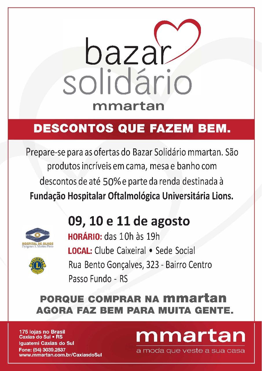 Bazar Solidário reverte parte da renda ao Hospital de Olhos