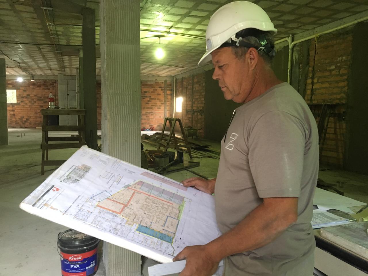 Obras do novo bloco cirúrgico do Hospital de Olhos Lions ultrapassam os 20% de conclusão